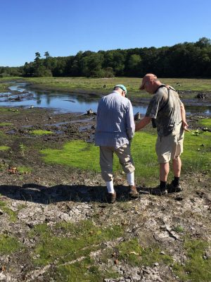 Seatuck's John Turner and Long Island Botanical Society President Eric Lamont at West Brook